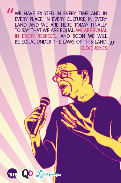 Portrait of Cleve Jones for a series of illustrated quotes I'm working on called Queer Quotables