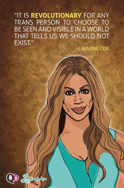 Illustration of Laverne Cox by Suzy Malik